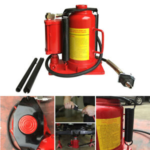20 Ton Automotive Low Profile Air Hydraulic Bottle Jack Repair Hoist Manual Tool