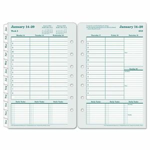 Original Dated Weekly monthly Planner Refill 5 1 2 X 8 1 2 2019