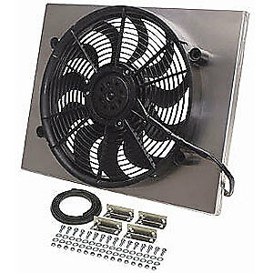 Derale 16822 Dual Speed Electric Puller Fan With Aluminum Shroud