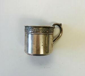 Antique Vintage Lullaby Sterling Silver Baby Cup