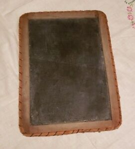 Roped Edge Primitive Vtg Child School Desk Double Chalkboard Slate Blackboard