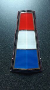 New 1962 Plymouth Sport Fury Red White Blue Trunk Ornament Medallion