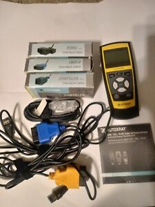 Autoxray Ez scan 6000 Diagnostic Scan Tool Code Reader Obd 2 Ii 5 Cables Ford Gm