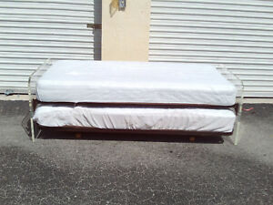 Vintage Mid Century Lucite Day Bed Frame And Sides