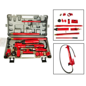 10 Ton Long Ram Hydraulic Jack Autobody Frame Porta Power Repair Lifts Kits