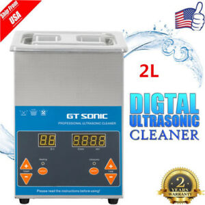 2l Stainless Steel Poweful Industry Heated Ultrasonic Cleaner W Timer basket Us