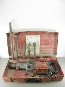Hilti Te 905 avr Heavy Duty Demolition Jack Hammer Breaker W 5 Bits And Case