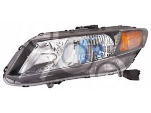 For Honda Civic Hybrid 12 2012 Head Light Lamp With Bulb 33150 tr2 a01 Driver