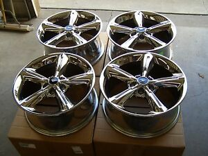 Oem Ford 2005 2014 Mustang Chrome Bullitt Wheels 2011 2012 2013 Gt Nos 18x8