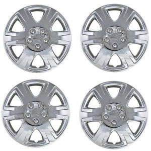 Brand New Set Of 4 15 Chrome Hubcaps Wheel Covers For 2003 2013 Toyota Corolla