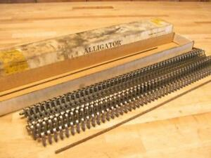 Nos Vintage Alligator 45 Steel Flat Belt Lacing Hit Miss Steam Engine Sawmill