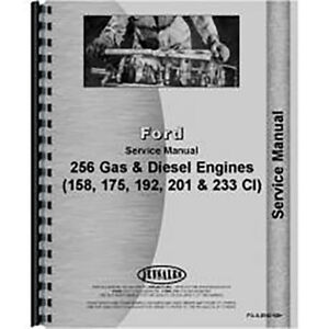 Ford 158 175 192 2000 3000 4000 5000 Gas Diesel Engine Service Manual