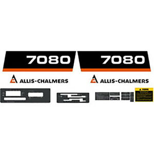 Complete High Quality 7080 Allis Chalmers Tractor Decal Set