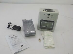 Pyramid 2500 Time Clock Bundle With Time Cards Card Rack And Ribbon