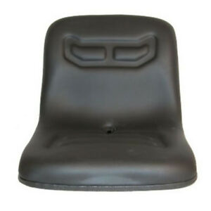 16 Black Dishpan Seat W Brackets For Allis Chalmers Compact Tractor 5020 5215