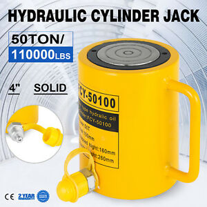 50t 4 Stroke Single Acting Hydraulic Cylinder Durable Lift Cylinder Bending
