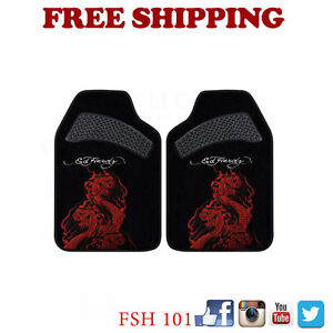 Brand New Ed Hardy By Christian Audigier King Cobra Car Truck Carpet Floor Mats