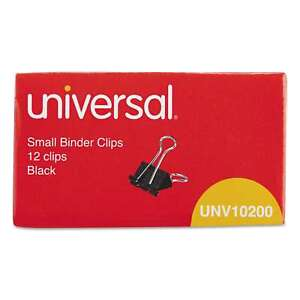 Universal Black silver Small Binder Clips 20 Packs Of 12 Silver