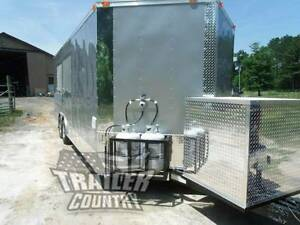 New 8 5 X 22 22 Enclosed Concession Food Vending Bbq Mobile Kitchen Trailer