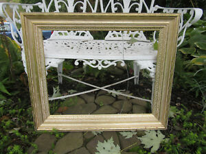 Vintage Large Picture Frame Mirror Frame Wooden Ornate Baroque Gold Wedding