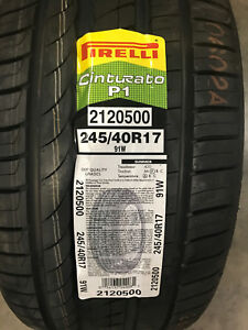2 New 245 40 17 Pirelli Cinturato P1 Tires