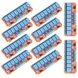 10pcs 12v 8 channel Relay Module Optocoupler H l Level Triger For Arduino Lot
