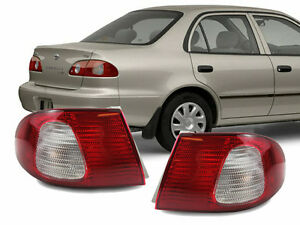 Jdm Red Clear Rear Outer Pair Rear Brake Tail Lights For 98 02 Toyota Corolla