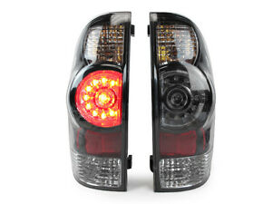 Depo Jdm Facelift Look Black Led Rear Tail Lights For 05 14 Toyota Tacoma Pickup