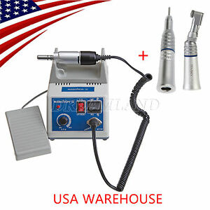 Marathon Micromotor Dental Drill Polishing Contra Angle Straight Handpiece Kit N
