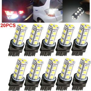 20pcs 3157 White 18smd 5050 Reverse Brake stop turn Tail Back Up Led Bulbs In Us