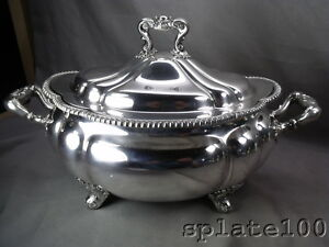 Large 2 1 2 Quart Gorham Melon Silver Plate Soup Tureen Perfect For The Holidays