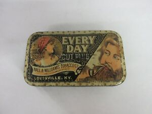 VINTAGE RARE  ADVERTISING TOBACCO EVERYDAY POCKET TIN EXCELLENT COND  202-R