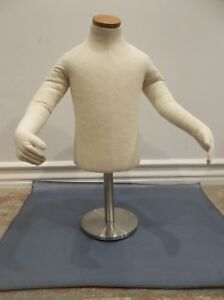 Baby Toddler Child Posable Half Form Cloth Mannequin Counter Hanging Display Euc