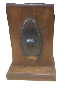 C19 Arts And Craft Oak Clockwork Counter Servants Bell
