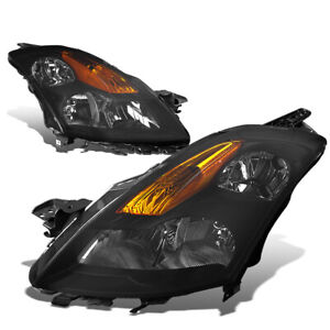 Fit 2007 2009 Nissan Altima Pair Smoked Housing Amber Corner Headlight lamp Set