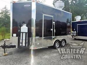 New 8 5 X 14 Enclosed Mobile Kitchen Tail Gate Food Vending Concession Trailer