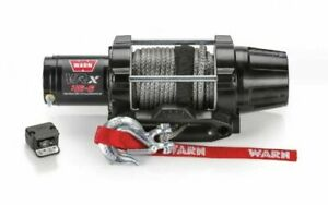 Warn 101040 Vrx 45 S Powersport Winch With Synthetic Rope 4500 Lb Rating