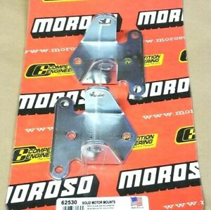 Moroso Solid Motor Mounts Steel Small Block Chevy Sbc Short Wide Corvette Nova