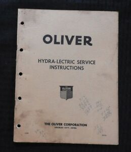 1951 Oliver 66 77 88 Tractor Diesel Hydra lectric Service Repair Manual Good 1