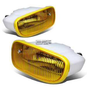 Fit 99 01 Jeep Grand Cherokee Wj Yellow Lens Oe Bumper Driving Fog Light Lamp