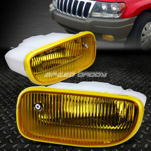 For 99 01 Jeep Grand Cherokee Wj Yellow Lens Oe Bumper Driving Fog Light Lamp
