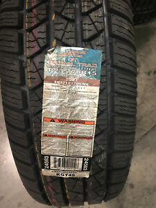 4 New 235 70 15 Summit Gt Radial Trac White Letter Tires