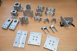 Lot1 8020 Aluminum Extrusion Hardware 10 Series Linear Slides And Misc