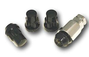 Set Of 4 Black Acorn Wheel Lug Locks 12x1 5 Toyota 4runner Tacoma Prius Camry