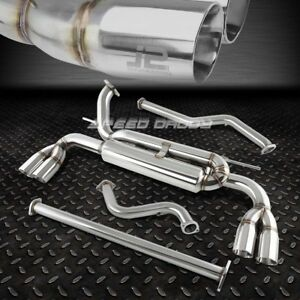 For 12 14 Ford Focus Hatch J2 Quad Rolled Muffler Tip Stainless Catback Exhaust