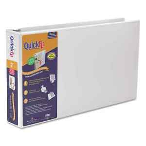 Stride Quickfit Ledger D ring View Binder 2 inch Capacity 11 X 17 White