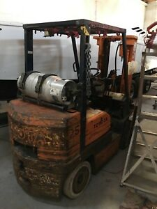 1997 Toyota 5fgc25 Fork Truck Fork Lift Propane Automatic Running Condition