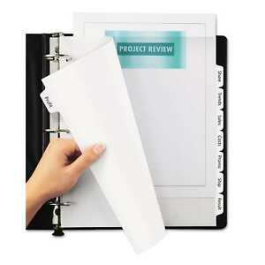 Avery Print And Apply Clear Label Dividers With White Tabs 8 tab 11 1 4 X 9 1 4