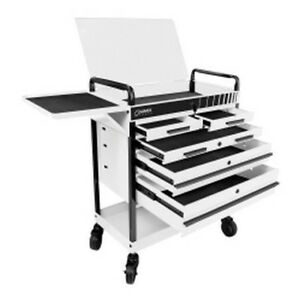 Heavy Duty 5 Drawer Service Cart White Sun8045wh Brand New