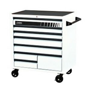 Premium 8 Drawer Service Carts 41 w X 24 d X 42 h White Sun8060wh New